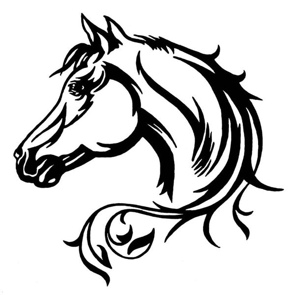 Horse Head WaterprCar Stickers