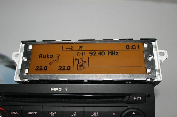 Screen support USB and Bluetooth Display yellow monitor 12 pin for Peugeot 307 407 408 citroen C4 C5