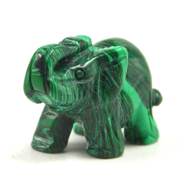 New Green High Quality Malachite Elephant Carving Handmade Gifts