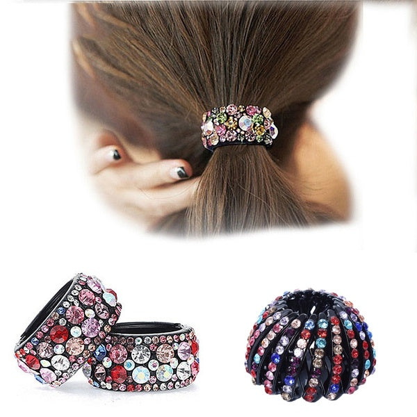 1PCCrystal Gum Hairpin Style 1 champagne