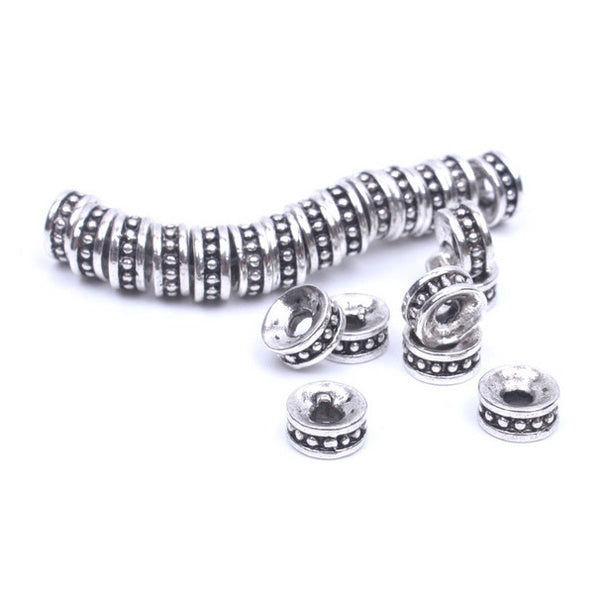Silver Spacer Beads for Necklace Bracelet Jewelry Making
