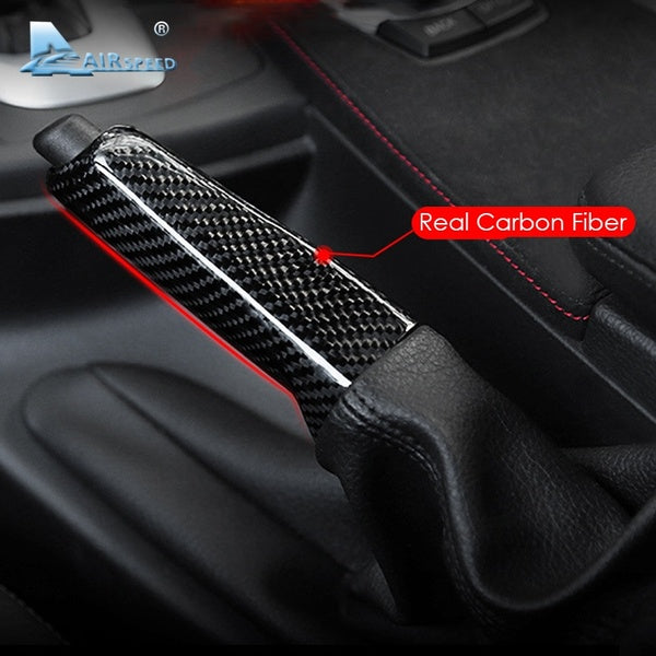Universal Carbon Fiber Car Handbrake Replacement Cover for BMW