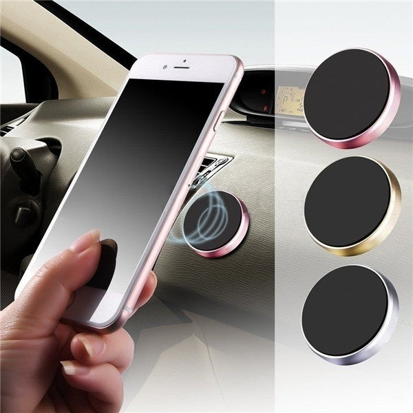 Universal In-Car Magnetic Dashboard Cell Phone Holder silver