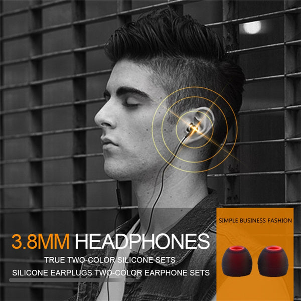 12pcs 3.8mm Colorful Soft Headphone Rubber Earbuds In-ear Earphone Silicone Ear Tips Ear pads cushion M black green