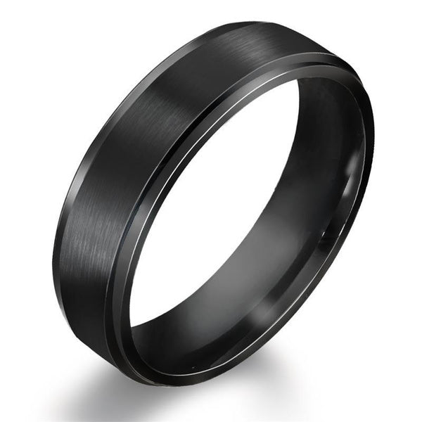 Mens 6MM BASE RINGS Wedding Band Black Pure Carbide Tungsten Engagement Ring for Men Jewelry 7 black