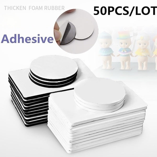 50 100 250PCS Double Sided Black Foam Tape Strong Pad Mounting Round Square Car Home Use Adhesives