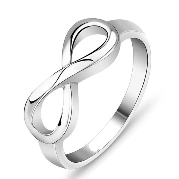 1/2/5/10PCS New Fashion Silver Infinity Ring Statement Jewelry Banquet Party Accessories for Women