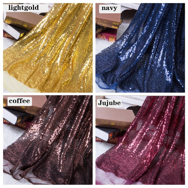 130x50cm DIY 3mm Paillette Sequin Fabric Sparkly Gold Silver Glitter Fabric for Clothes Stage Party Wedding Home Decor 50 cm royalblue
