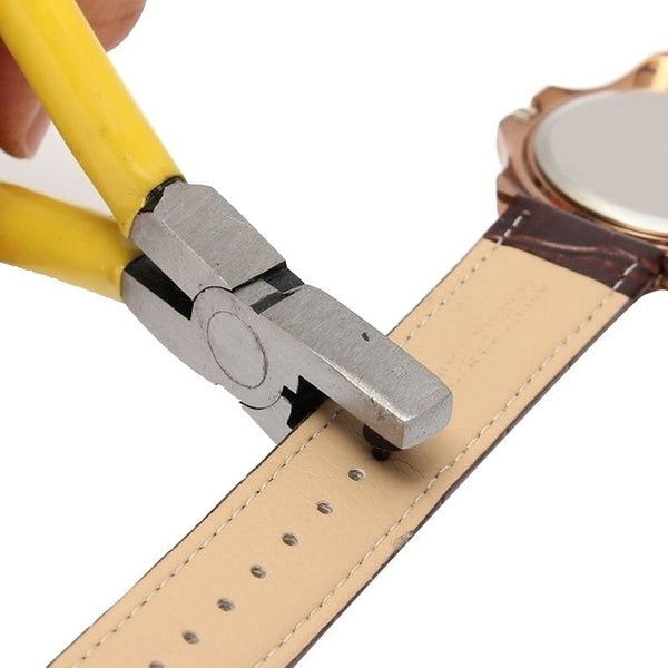 Universal Hand Leather Strap Watch Band Belt Tool Hole Punch Pliers Tool