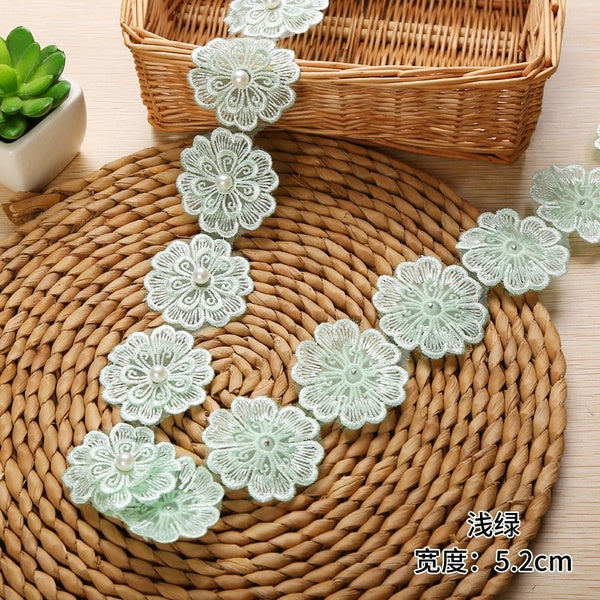 Polyester Embroidered Flower Lace Trim