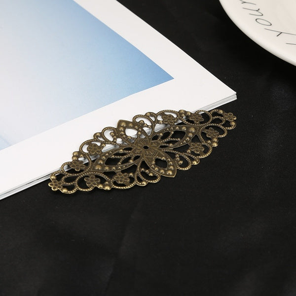 10pcs Gold Bronze Rhodium Plated Filigree Flower Wraps Connectors Charm Pendant For Necklace Jewelry Making Findings 10pcs gold