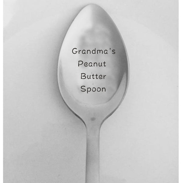 1PC My Peanut Butter Spoon Laser Engraved Spoon Birthday Gift for Him Anniversary Gift for Boyfriend Stocking Stuffers Kids Christmas Gifts
