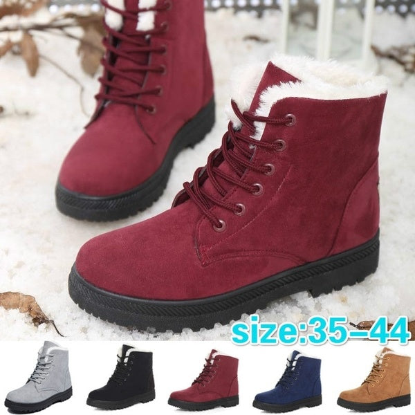 YE Womens Snow Boots Winter Short Ankle Boots US8.5 EU39 black