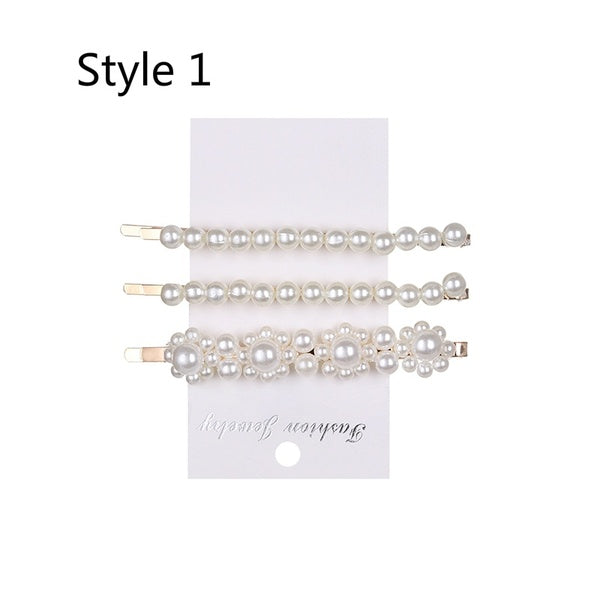 Solid Pearl Hair Clips