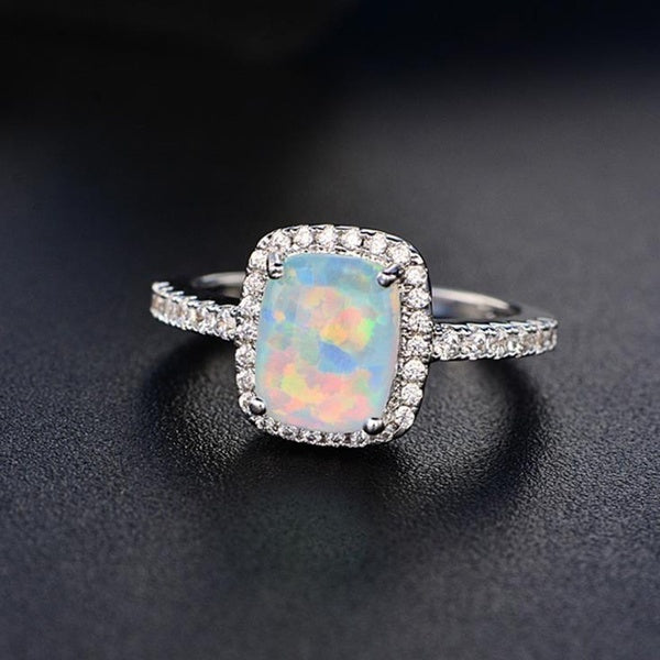 Natural Sapphire Gemstones and Opal Birthstone Ring Diamond ring size 5 crystalclear
