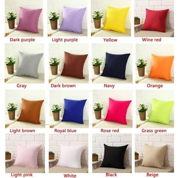 Solid Color Pillow Cover