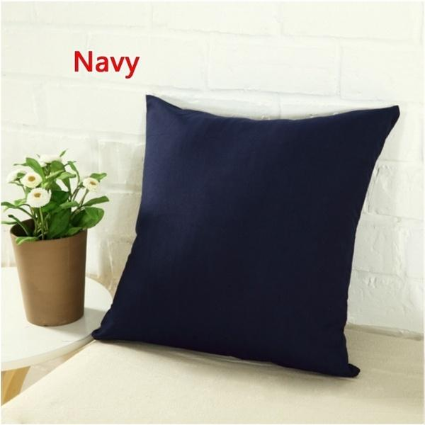 Solid Color Pillow Cover orange