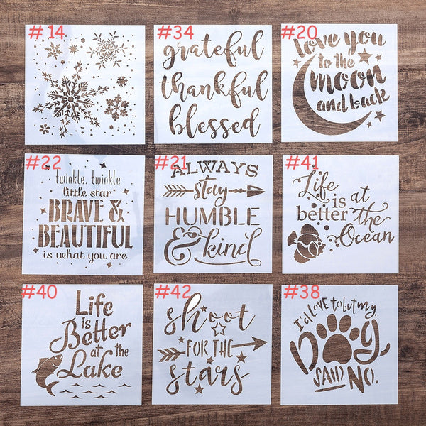 Layering Stencil For Wall Painting Scrapbooking Stamping No.20 Love you to the moon and back
