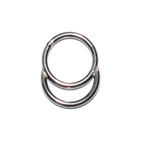 1PC Surgical Steel Segment Hinged Rings Crystal Septum Clicker Labret Rings Nose Earrings Piercing Body Jewelry B 16g 8mm