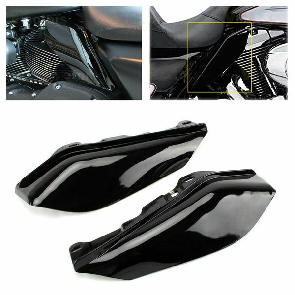 Motorcycle Black Engine Heat Shield Mid-Frame Air Deflector Trim for Harley Touring Road King Street Glide FLHX Electra Glide Title