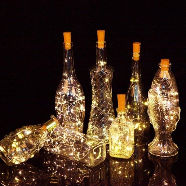 Led Wine Bottle Cork DIY Lights