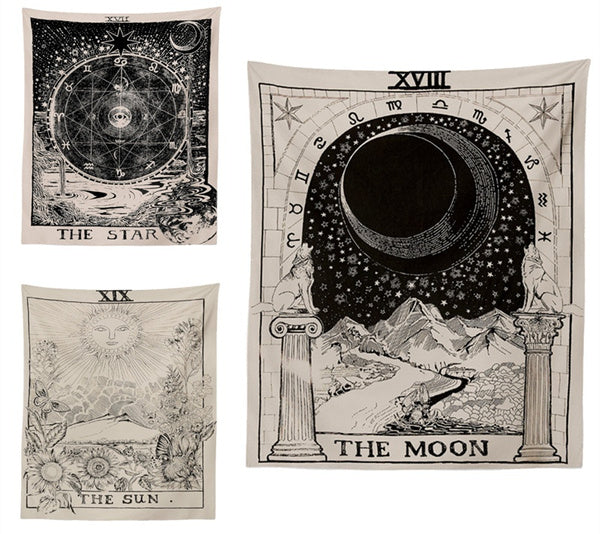 Divination The Moon The Star The Sun Tapestry Wall Home Decoration Bedspread Mat 95cm 73cm 150 100cm 150cm 130cm 150cm 200cm 180cm 230cm the star-150cm by 100cm