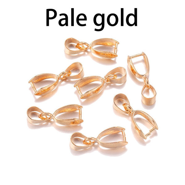 50pcs lot Melon Seeds Buckle Pendants Clasps Hook Clips Bails Connectors Copper Charm Bail Beads Supplies For Jewelry Making DiY