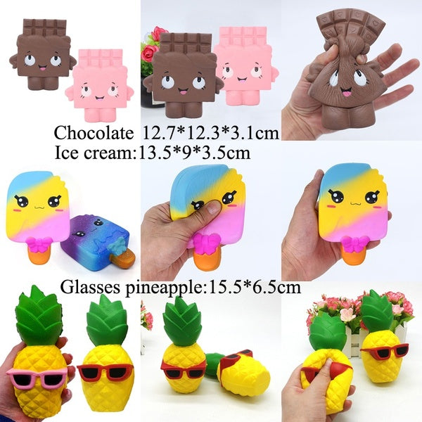 Squishy Elastic Foam Stress Animal Collectibles Poop-Blue