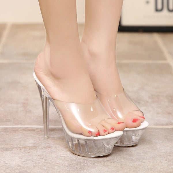 Crystal Sandals us6.5 silver