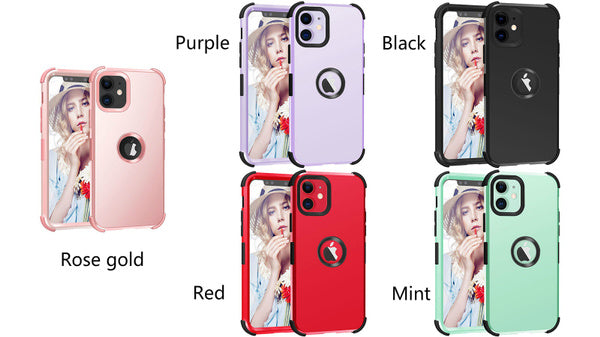 iPhone 11 case � �î¬� �� �•Three Layer Heavy Duty Shockproof Protective Soft Silicone Hard Plastic Bumper Sturdy Case Cover for iPhone iPhone 6 7 8 6Plus 7Plus 8Plus X XR XS Max iPhone 11 11 Pro 11 Pro Max. iPhone 6 black