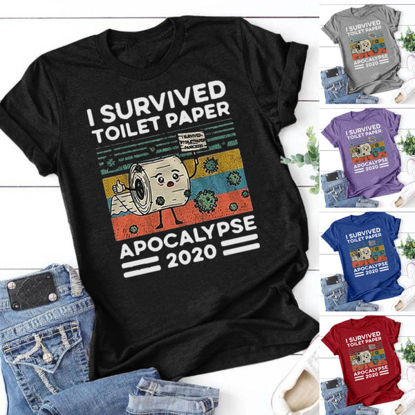 I Survived The Great Toilet Paper Apocalypse Tee XL grey