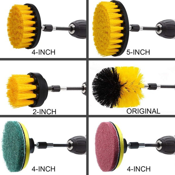 Electric Cleaning Brush 3Pcs white