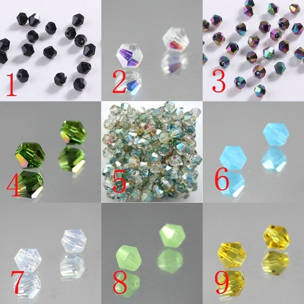 Colorful Faceted Austria Crystal Jewelry Beads Set of 500 43-Pink AB