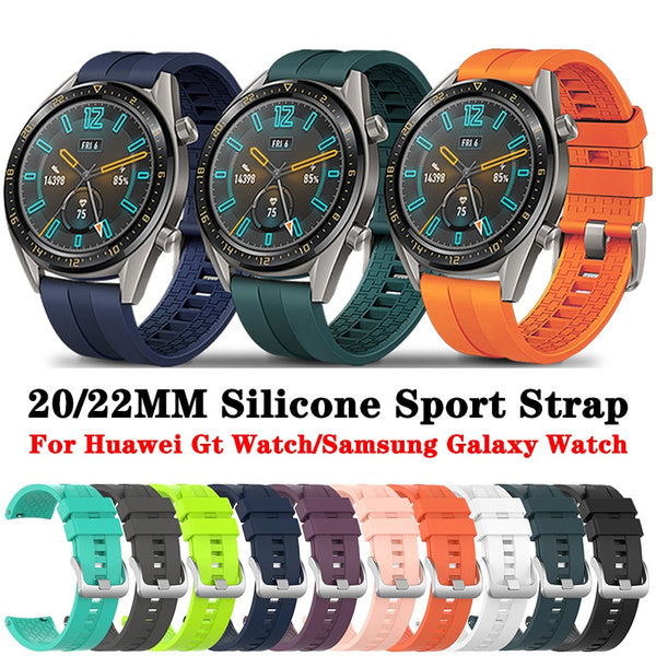 20 22mm Silicone Watch Band Strap for Samsung Gear S3 Frontier Galaxy Watch 42mm 46mm Amazfit Bip Huawei Watch GT 2 Ative 2 40 44mm 22 mm mintgreen