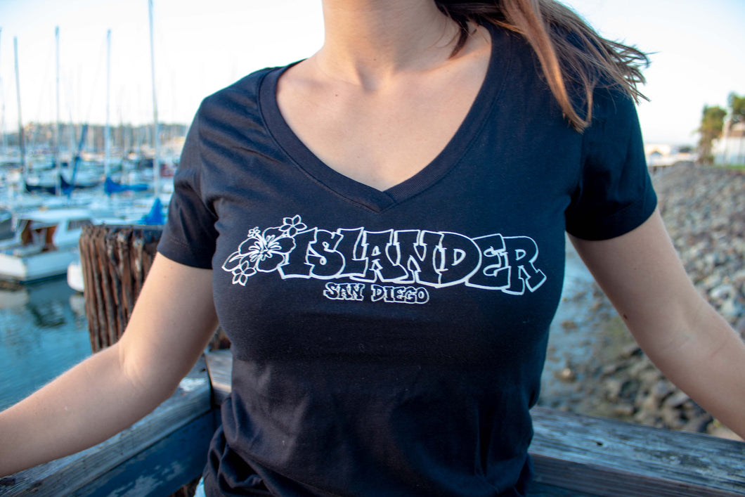 Islander Women's 'Graffiti Flower' T-shirt