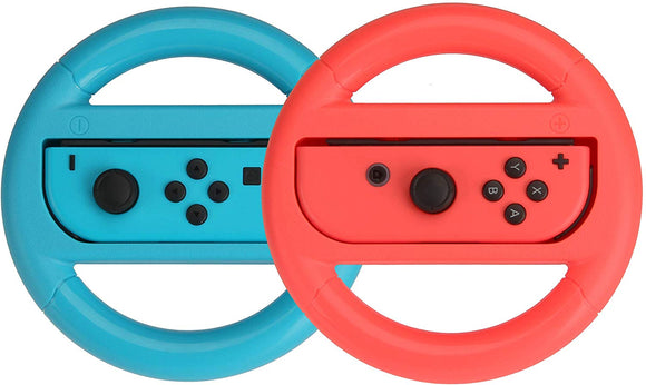Steering Wheel for Nintendo Switch - Blue/Red (2 Pack) - Shop Video Games