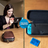 Nintendo Switch Zelda Breath of The Wild Carrying Case – Protective Deluxe Travel Case – Koskin Leather with Embossed Zelda Breath of The Wild Art – Official Nintendo Licensed Product - Shop Video Games