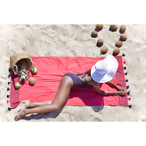 Metalia Beach Towels - 100% Turkish Cotton Fast Drying Stylish - San Diego