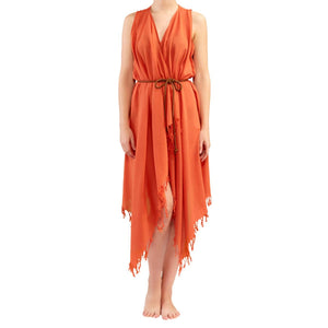 SUNSET BEACH and POOL DRESS - 100% Turkish Cotton Stylish Handwoven Multi-Purpose Beach Pool Sports Daily usage Towels and Clothing made in Turkey brought to you buy CITIZENSOFTHEBEACH San Diego California