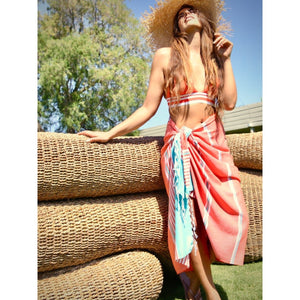Barbaros Beach Towels - 100% Turkish Cotton Fast Drying Stylish Multi-purpose - San Diego