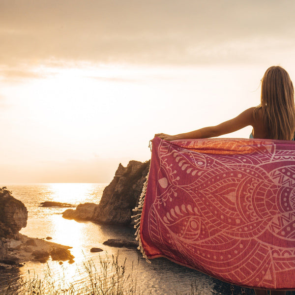 Kabak Cove Beach Towels - 100% Turkish Cotton Fast Drying Stylish - San Diego