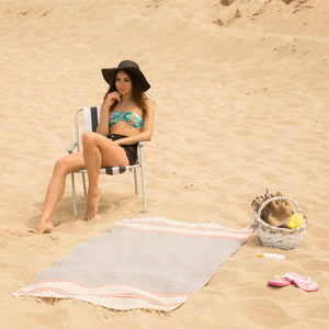 Beadnell Beach Towels - 100% Turkish Cotton Stylish Multi-purpose - San Diego