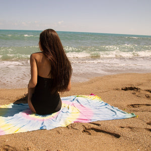 Lagua Tie Dye Beach Towel - 100% Turkish Cotton Fast Drying Stylish - San Diego