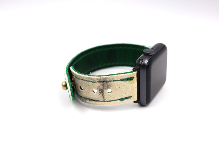 Winter Classic Pro Series White/Green iWatch Band