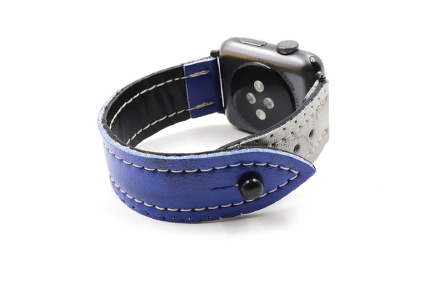 Blue Lightning Blue/Silver iWatch Band