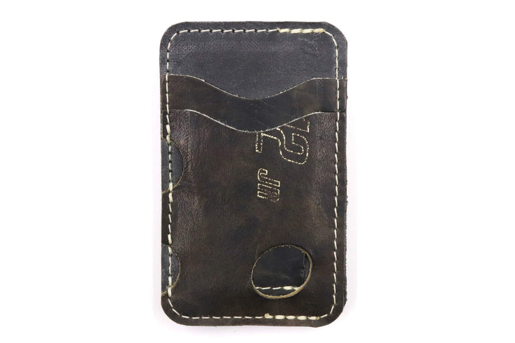 Cooper Jr Waffle Black 3 Slot Money-Clip