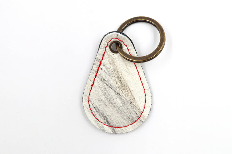 Razor Collection White Keychain