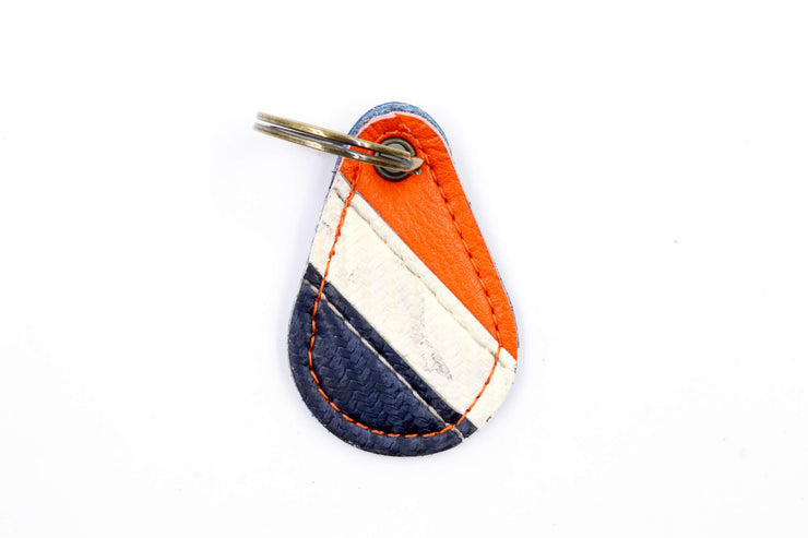 Long Island Star Collection Blue/White/Orange Keychain