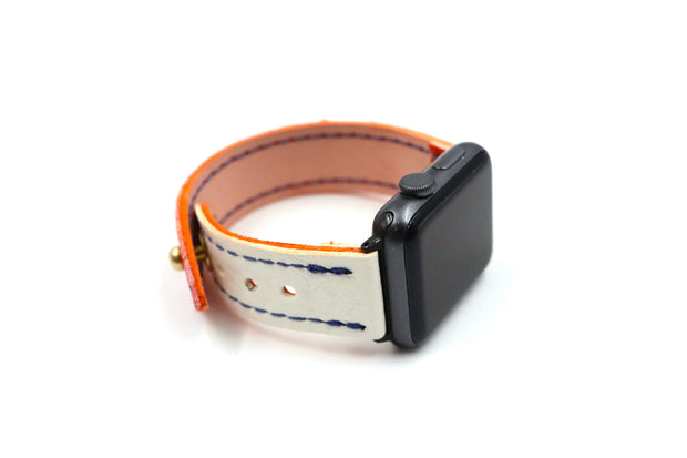 Visionary Collection Orange/White iWatch Band