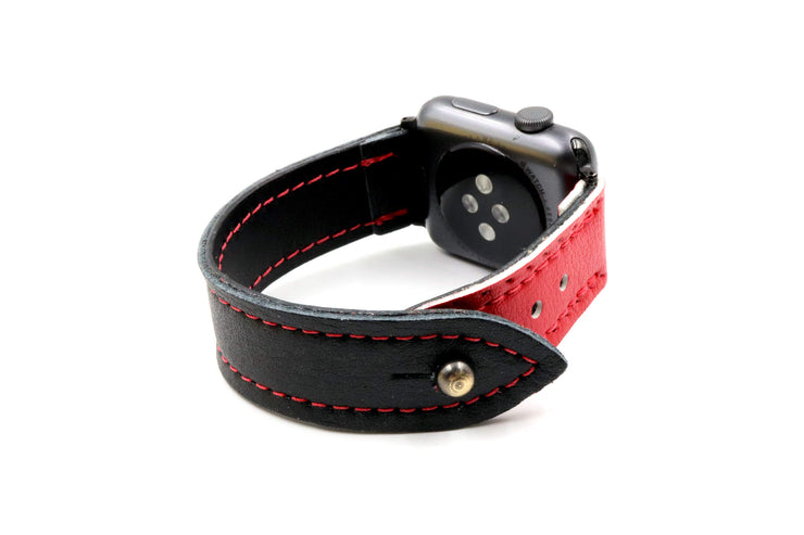 Brian's Beast Black/Red iWatch Band